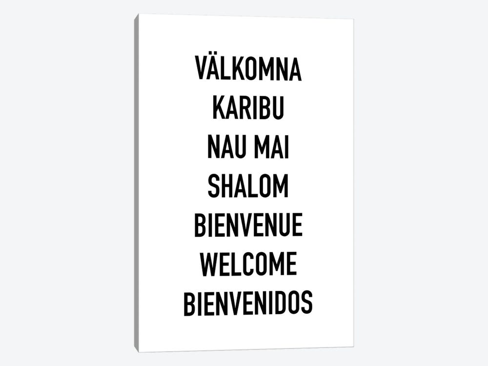 Welcome Languages by Mambo Art Studio 1-piece Canvas Print