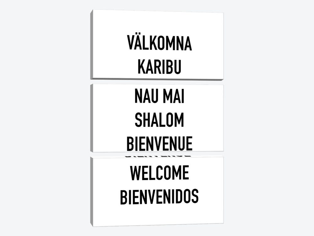 Welcome Languages by Mambo Art Studio 3-piece Art Print