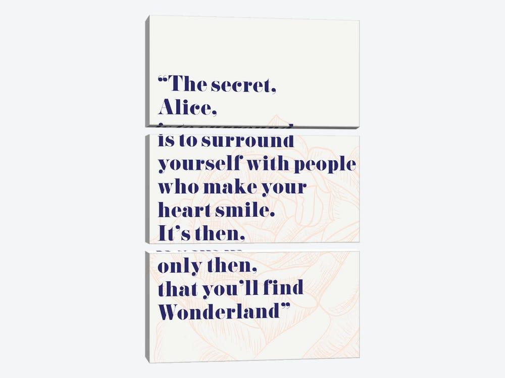 Wonderland Alice Quote by Mambo Art Studio 3-piece Art Print