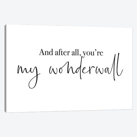 Wonderwall Cute Font Canvas Print #MSD70} by Mambo Art Studio Canvas Wall Art