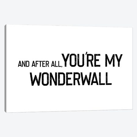 Wonderwall Rustic Font Canvas Print #MSD71} by Mambo Art Studio Canvas Wall Art