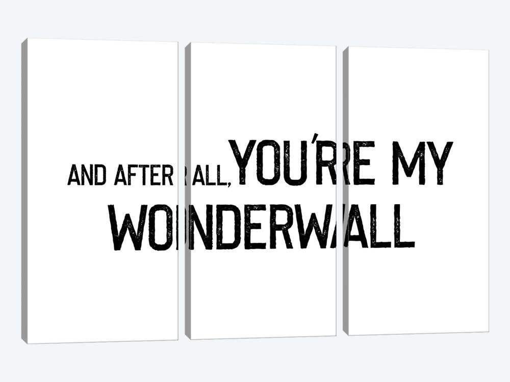 Wonderwall Rustic Font by Mambo Art Studio 3-piece Canvas Art
