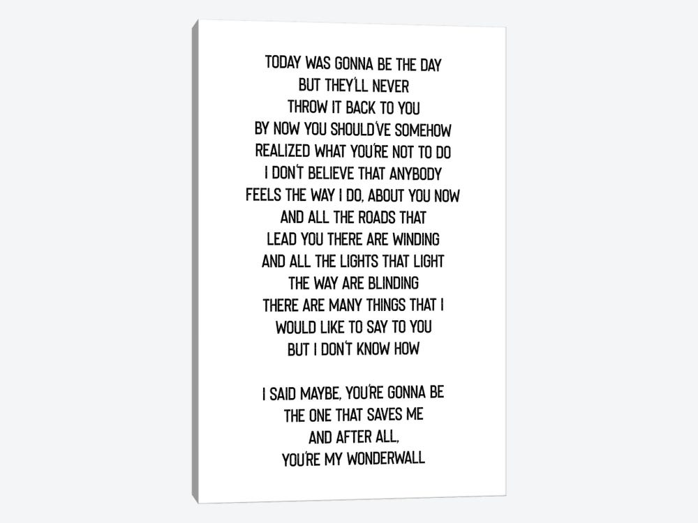 Wonderwall by Mambo Art Studio 1-piece Canvas Art Print