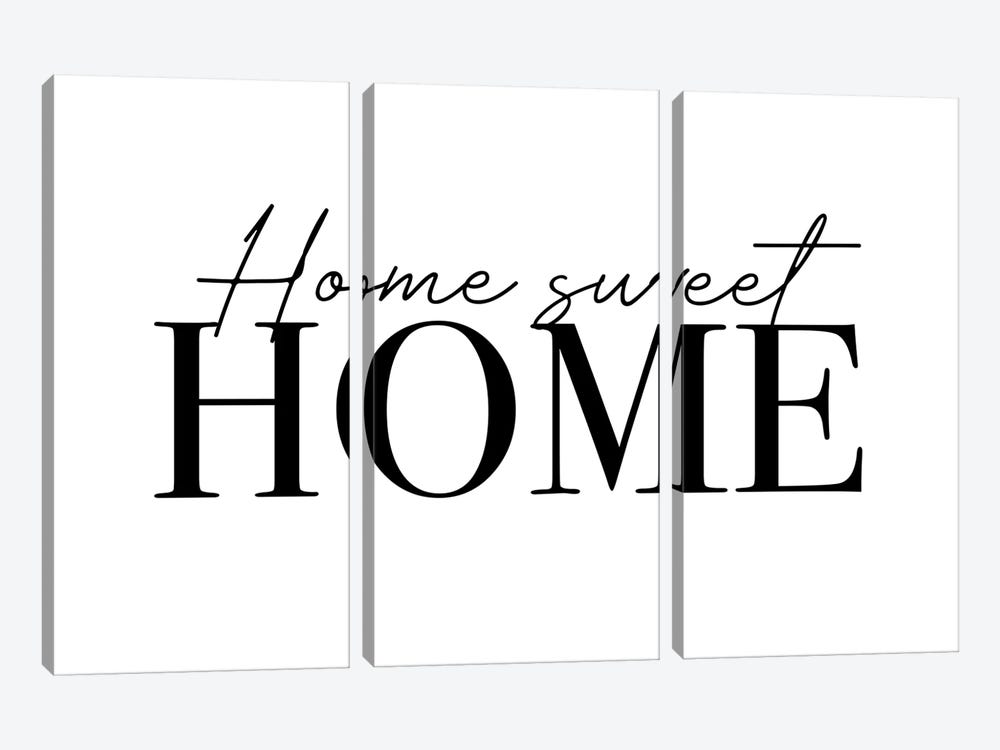 Home Sweet Home by Mambo Art Studio 3-piece Canvas Art Print