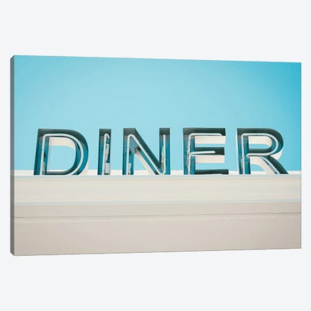 Retro Diner Sign Photo Canvas Print #MSD83} by Mambo Art Studio Canvas Art Print