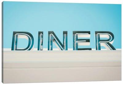Retro Diner Sign Photo Canvas Art Print