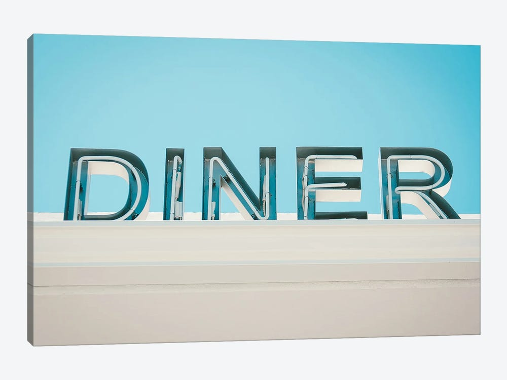 Retro Diner Sign Photo by Mambo Art Studio 1-piece Canvas Print