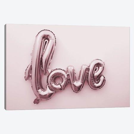 Love Pink Ballon Canvas Print #MSD84} by Mambo Art Studio Canvas Artwork