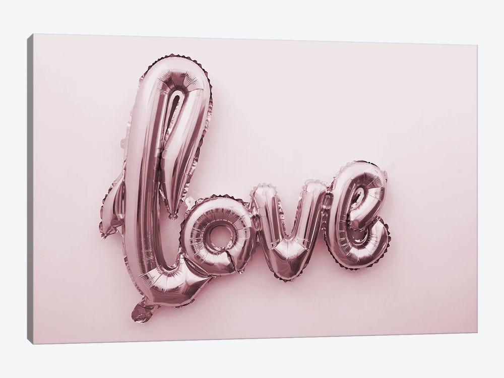 Love Pink Ballon by Mambo Art Studio 1-piece Canvas Art