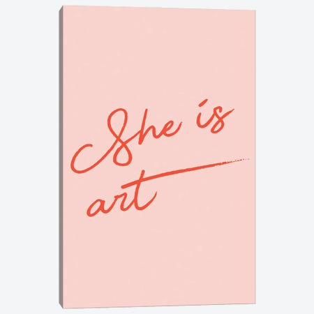 She is Art Canvas Print #MSD85} by Mambo Art Studio Canvas Artwork
