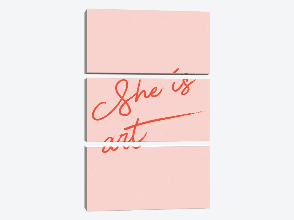 She is Art by Mambo Art Studio 3-piece Canvas Print