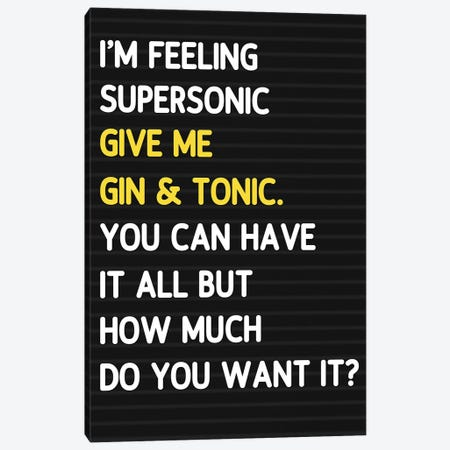 Super Sonic - Letterboard Style Canvas Print #MSD88} by Mambo Art Studio Canvas Print