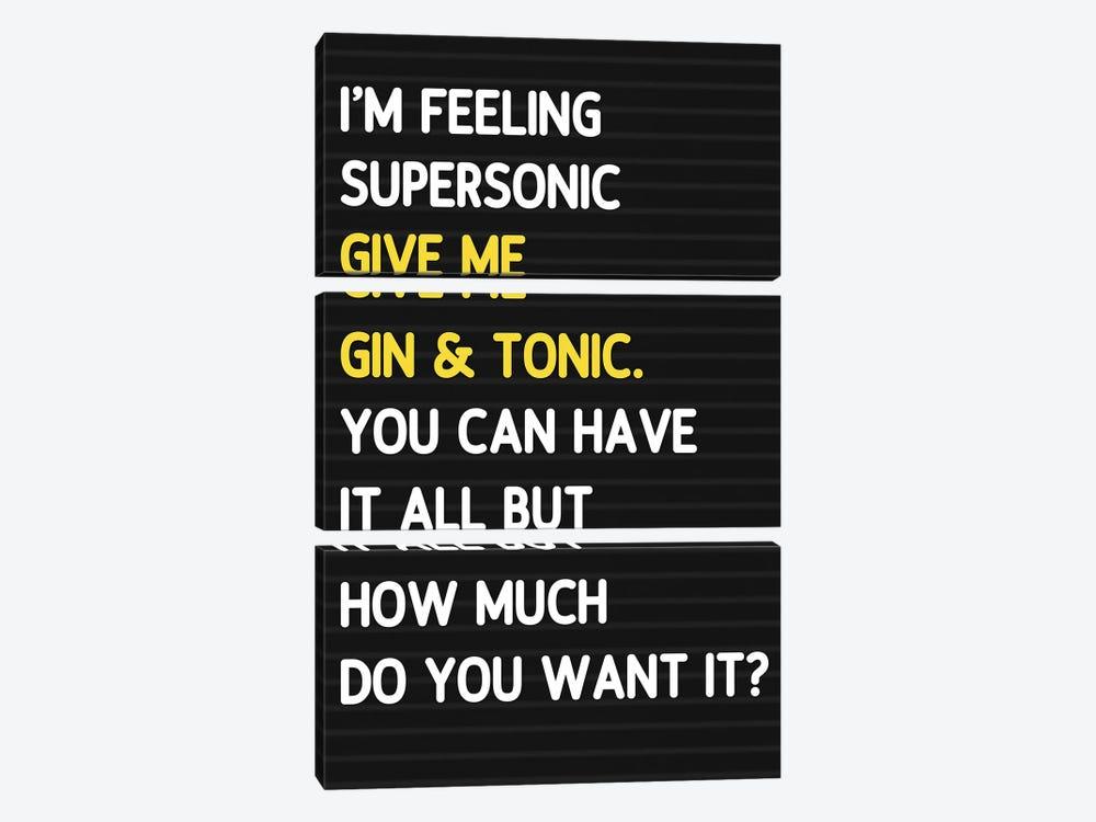 Super Sonic - Letterboard Style by Mambo Art Studio 3-piece Canvas Artwork