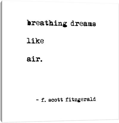 Breathing Dreams by Scott Fitzgerald Square Canvas Art Print