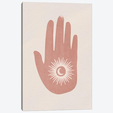 Eclipse Hand Canvas Print #MSD94} by Mambo Art Studio Art Print
