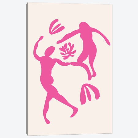 Pink People Cut Out Dancing Canvas Print #MSD95} by Mambo Art Studio Art Print