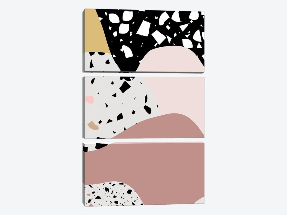Terrazzo Pink Big by Mambo Art Studio 3-piece Art Print