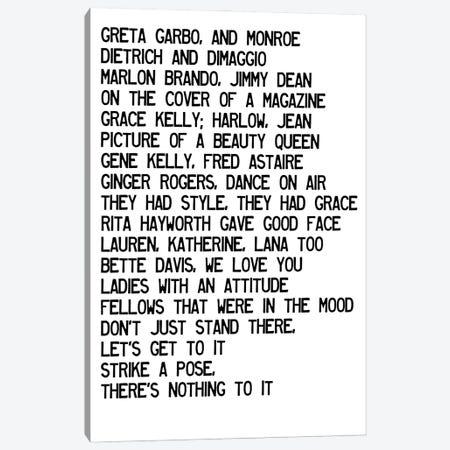 Vogue Lyrics Canvas Print #MSD99} by Mambo Art Studio Canvas Wall Art