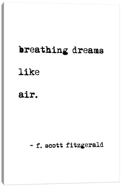 Breathing Dreams by Scott Fitzgerald Canvas Art Print