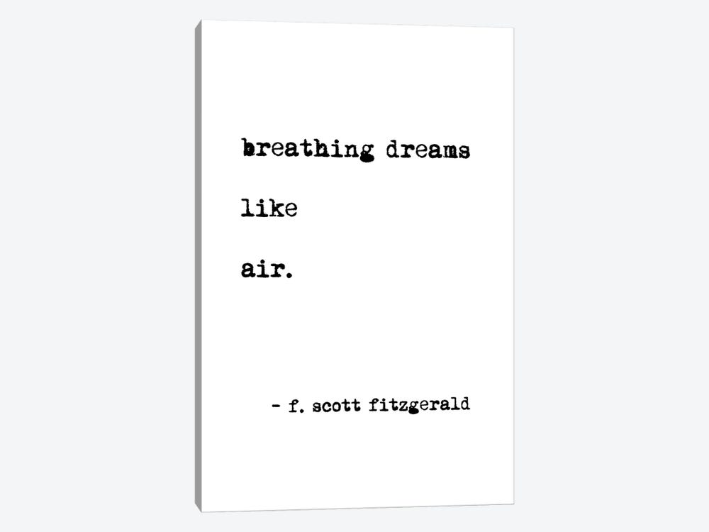 Breathing Dreams by Scott Fitzgerald by Mambo Art Studio 1-piece Canvas Wall Art