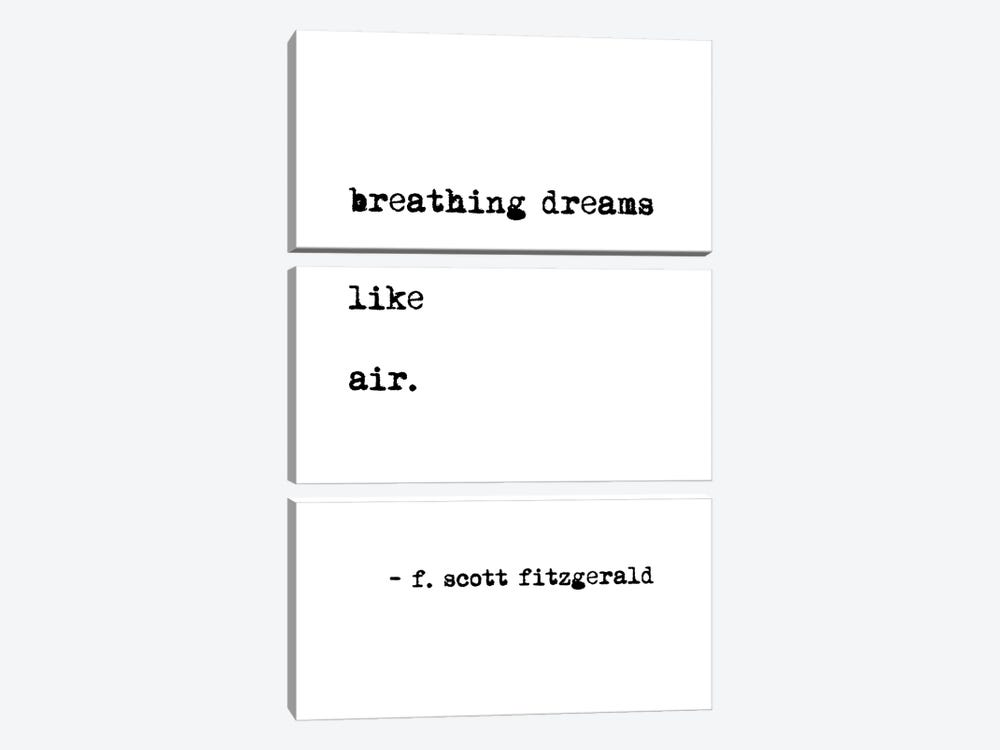 Breathing Dreams by Scott Fitzgerald by Mambo Art Studio 3-piece Canvas Wall Art