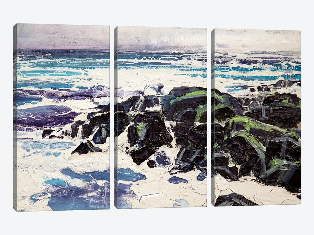 Iona Rocks I by Michael Sole 3-piece Canvas Art Print
