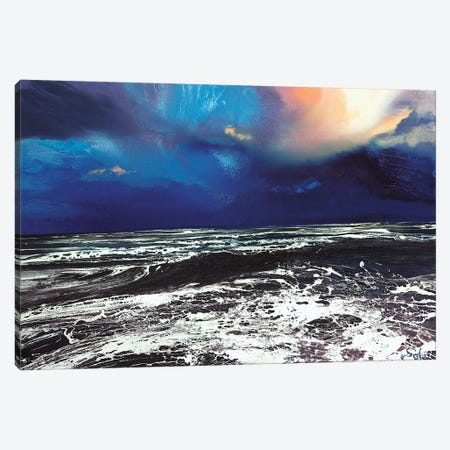 Lyme Bay Sky Canvas Print #MSE22} by Michael Sole Canvas Wall Art