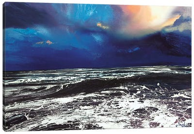 Lyme Bay Sky Canvas Art Print