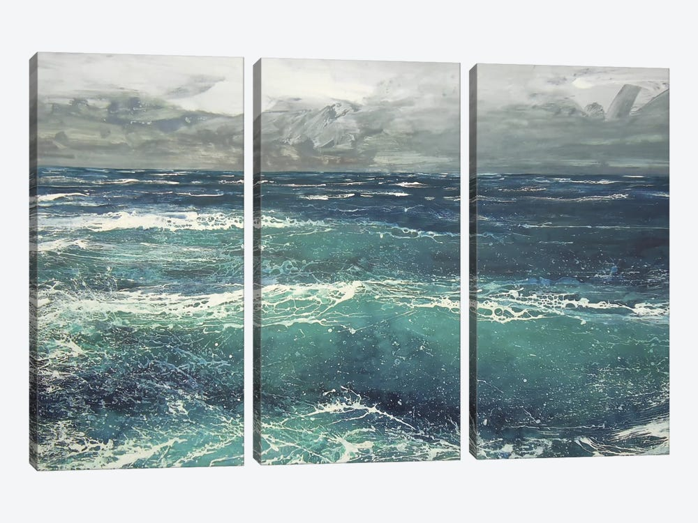 March Gale V by Michael Sole 3-piece Canvas Artwork