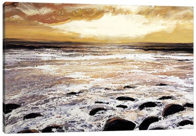 North Wales Sea And Sky Canvas Art Print
