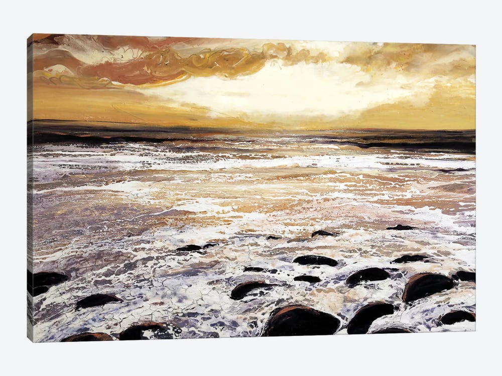 North Wales Sea And Sky by Michael Sole 1-piece Canvas Art Print