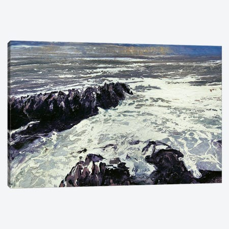 Seaspray, Rocks XII Canvas Print #MSE34} by Michael Sole Canvas Artwork