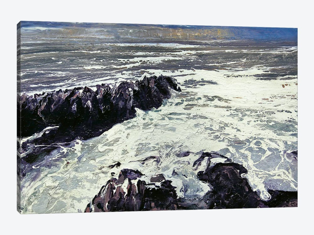 Seaspray, Rocks XII by Michael Sole 1-piece Canvas Wall Art