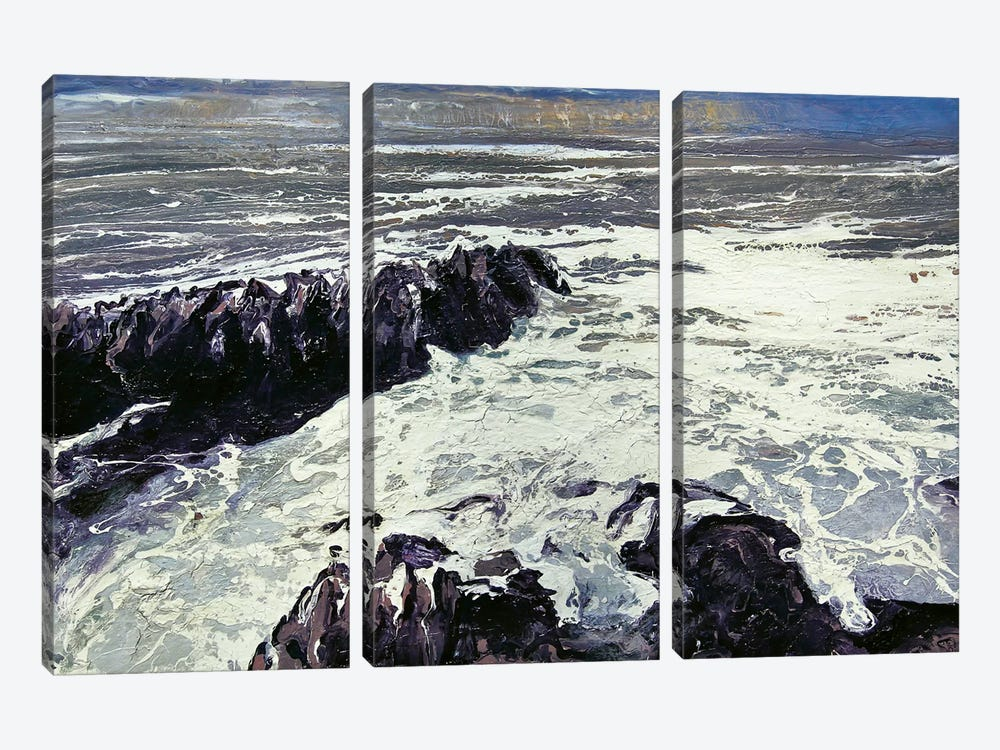 Seaspray, Rocks XII by Michael Sole 3-piece Canvas Art