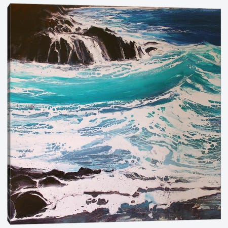 Seaspray, Red Rocks III Canvas Print #MSE35} by Michael Sole Canvas Art