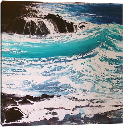 Seaspray, Red Rocks III Canvas Art Print