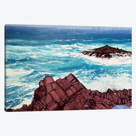 Seaspray, Red Rocks IV Canvas Print #MSE36} by Michael Sole Canvas Wall Art