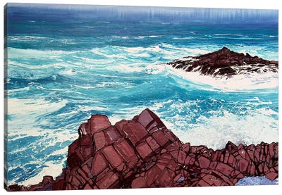 Seaspray, Red Rocks IV Canvas Art Print