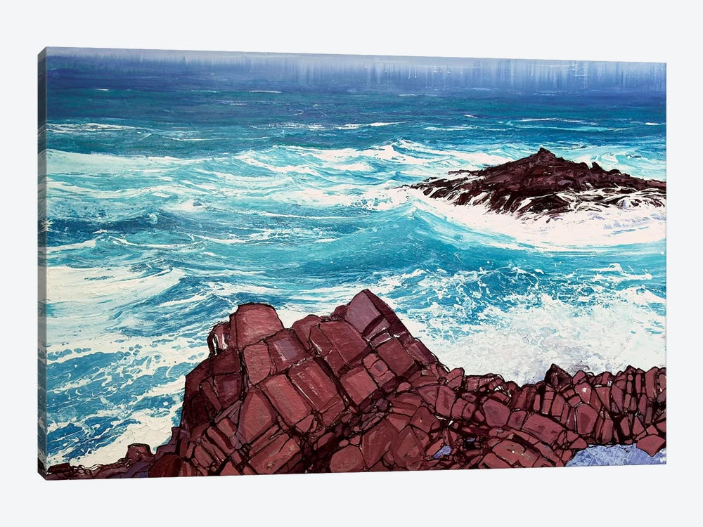 Seaspray, Red Rocks IV by Michael Sole 1-piece Canvas Wall Art