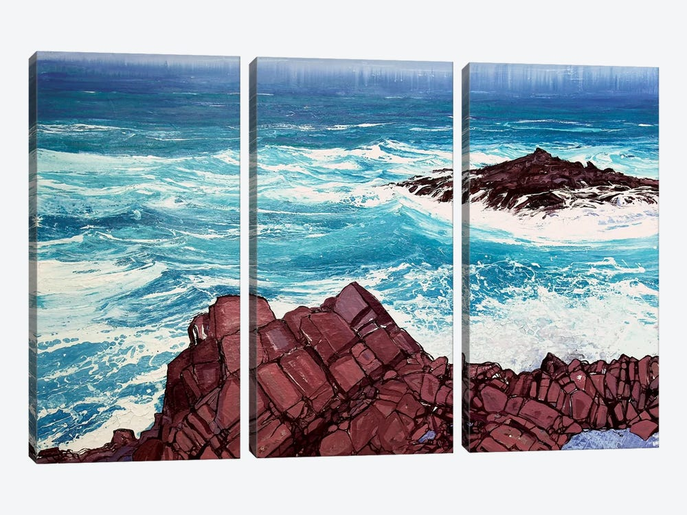 Seaspray, Red Rocks IV by Michael Sole 3-piece Canvas Artwork