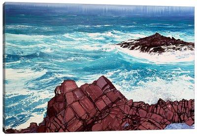 Seaspray, Red Rocks IV Canvas Art Print
