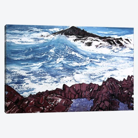 Seaspray, Red Rocks V Canvas Print #MSE37} by Michael Sole Canvas Wall Art
