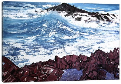 Seaspray, Red Rocks V Canvas Art Print