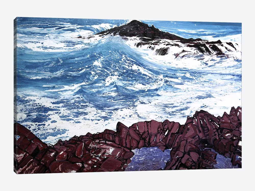 Seaspray, Red Rocks V by Michael Sole 1-piece Canvas Art Print