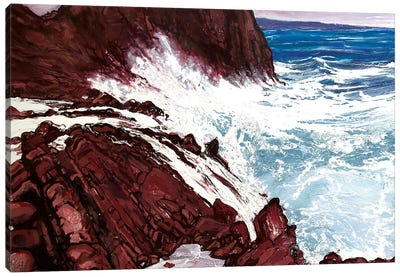 Seaspray, Red Rocks VIII Canvas Art Print