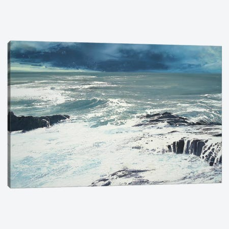 Seaspray, Rocks IV Canvas Print #MSE39} by Michael Sole Canvas Art Print
