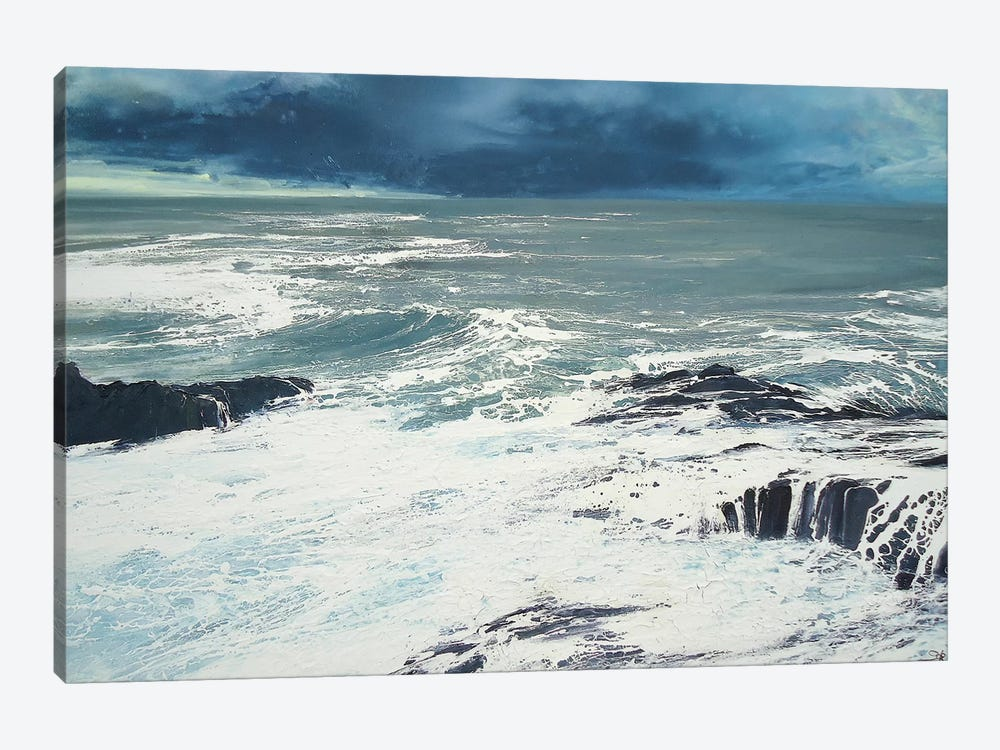 Seaspray, Rocks IV by Michael Sole 1-piece Canvas Print