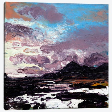 Sligachan VI Canvas Print #MSE43} by Michael Sole Canvas Wall Art