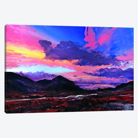 The Cuillins II Canvas Print #MSE48} by Michael Sole Canvas Wall Art