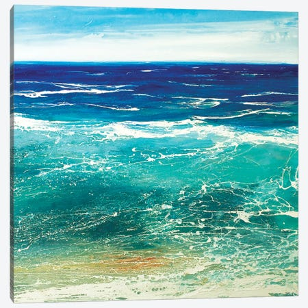 Transparent Azur 3-Piece Canvas #MSE49} by Michael Sole Canvas Art